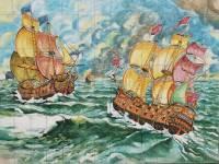 Ceramiche-Di-Vietri-caravelle-su-mare-in-tempesta-Colombo