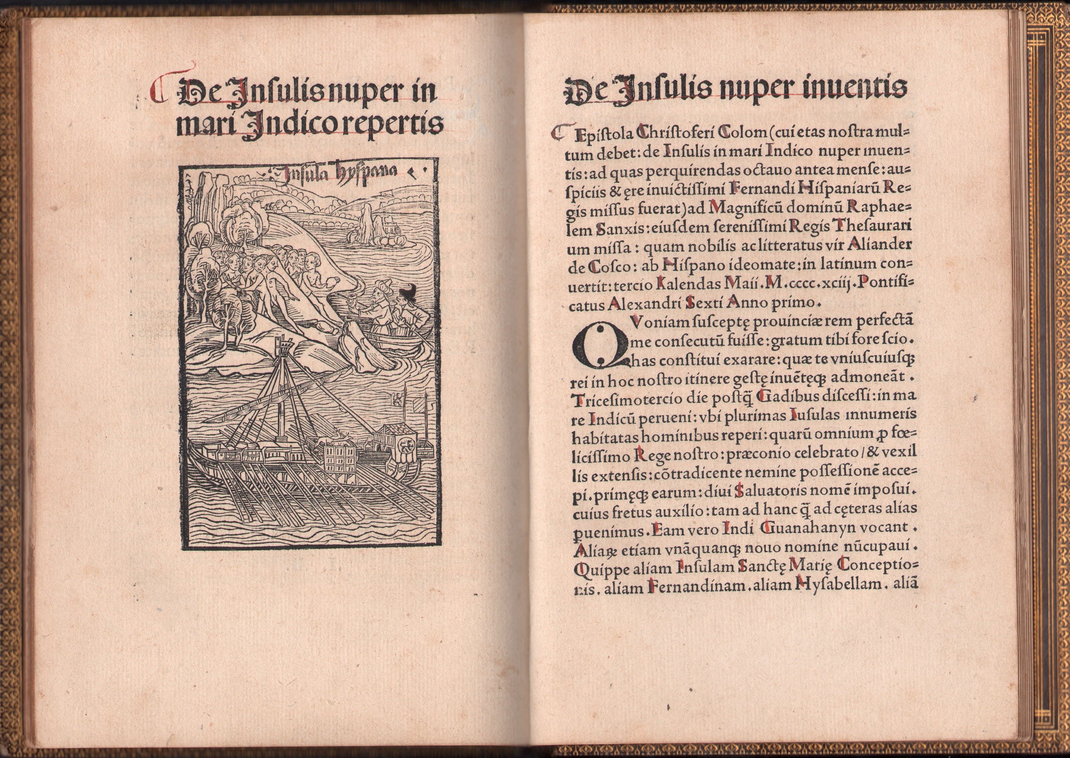 Christopher Columbus 1494 Book Letter Discovery America 05