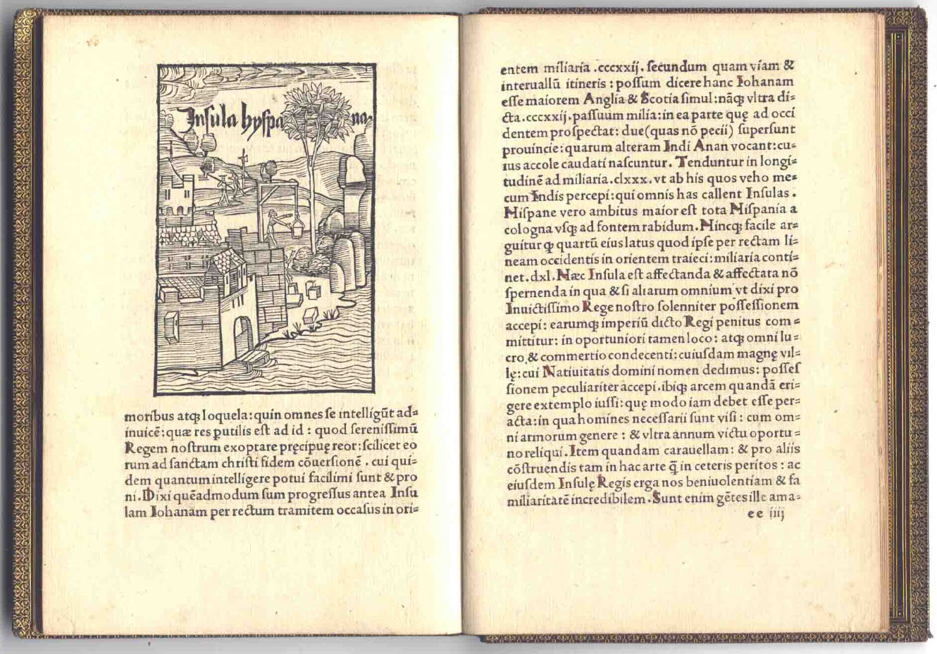 Christopher Columbus 1494 Book Letter Discovery America 08