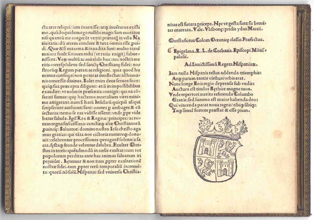 Christopher Columbus 1494 Book Letter Discovery America 09