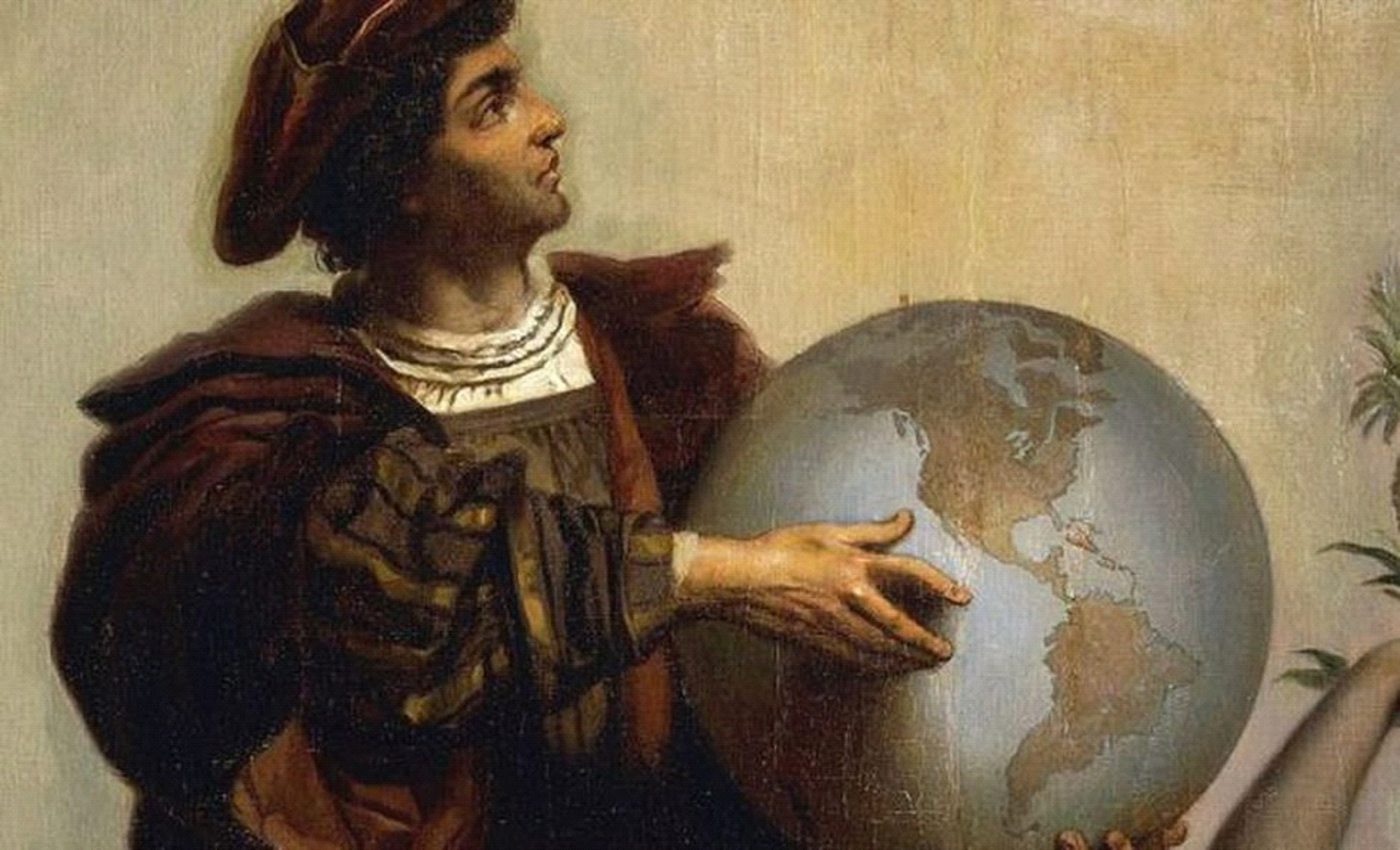 Christopher Columbus with Earth