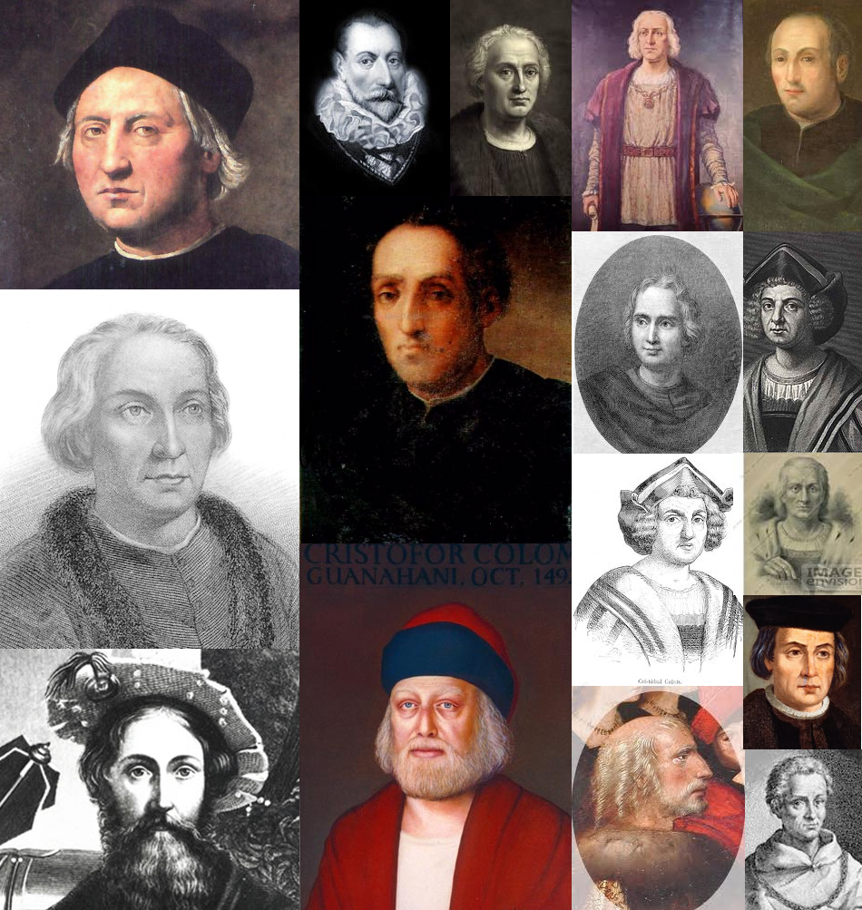 Cristoforo Colombo collage portraits
