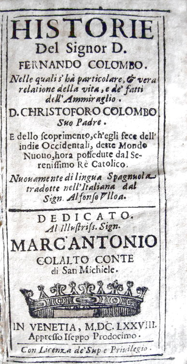 Ferdinand Columbus newspaper