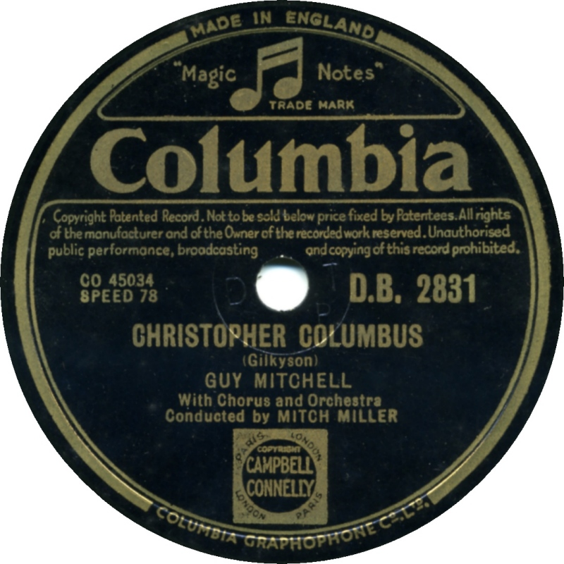 Guy Mitchell Christopher Columbus 2