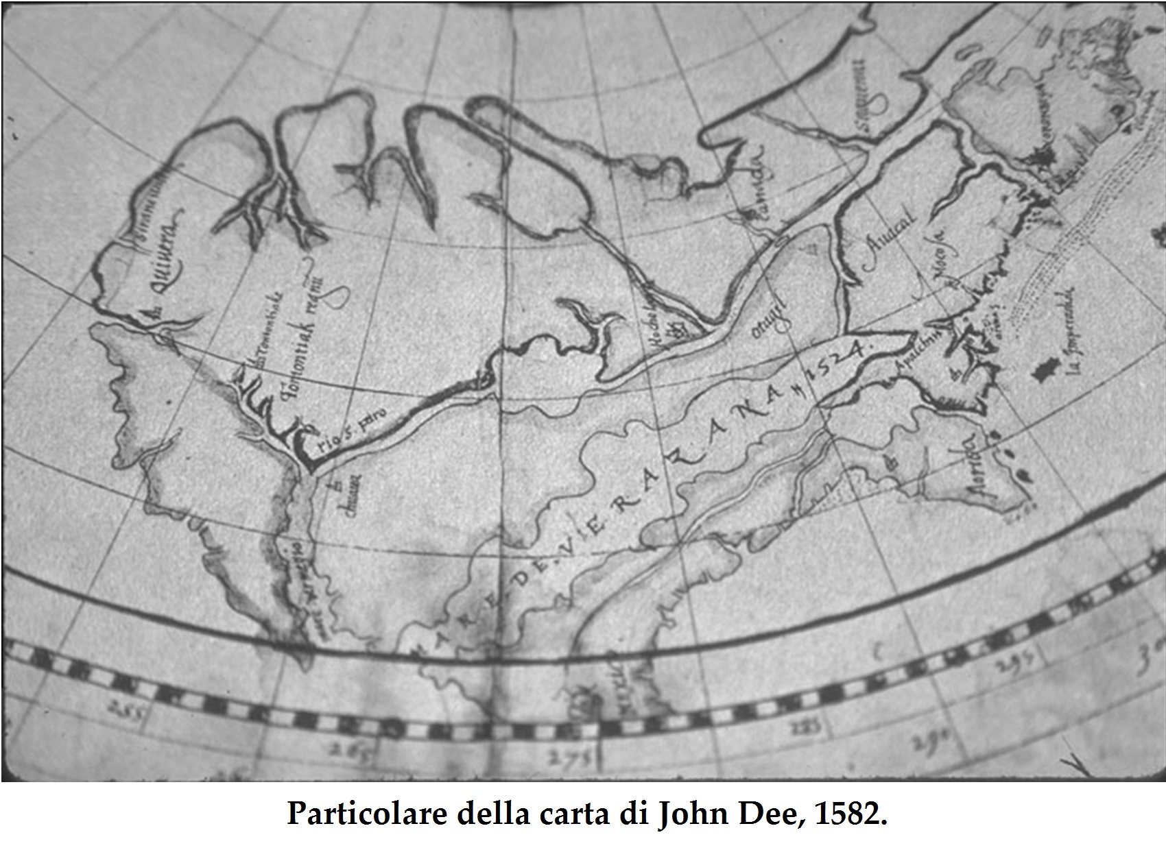John Dee map detail