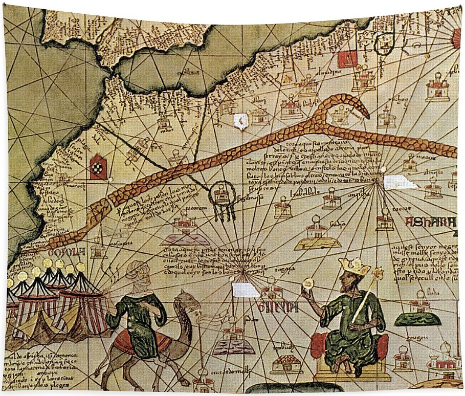 Mansa Musa Emperor Of The Mali Empire Catalan chart 1375.jpg