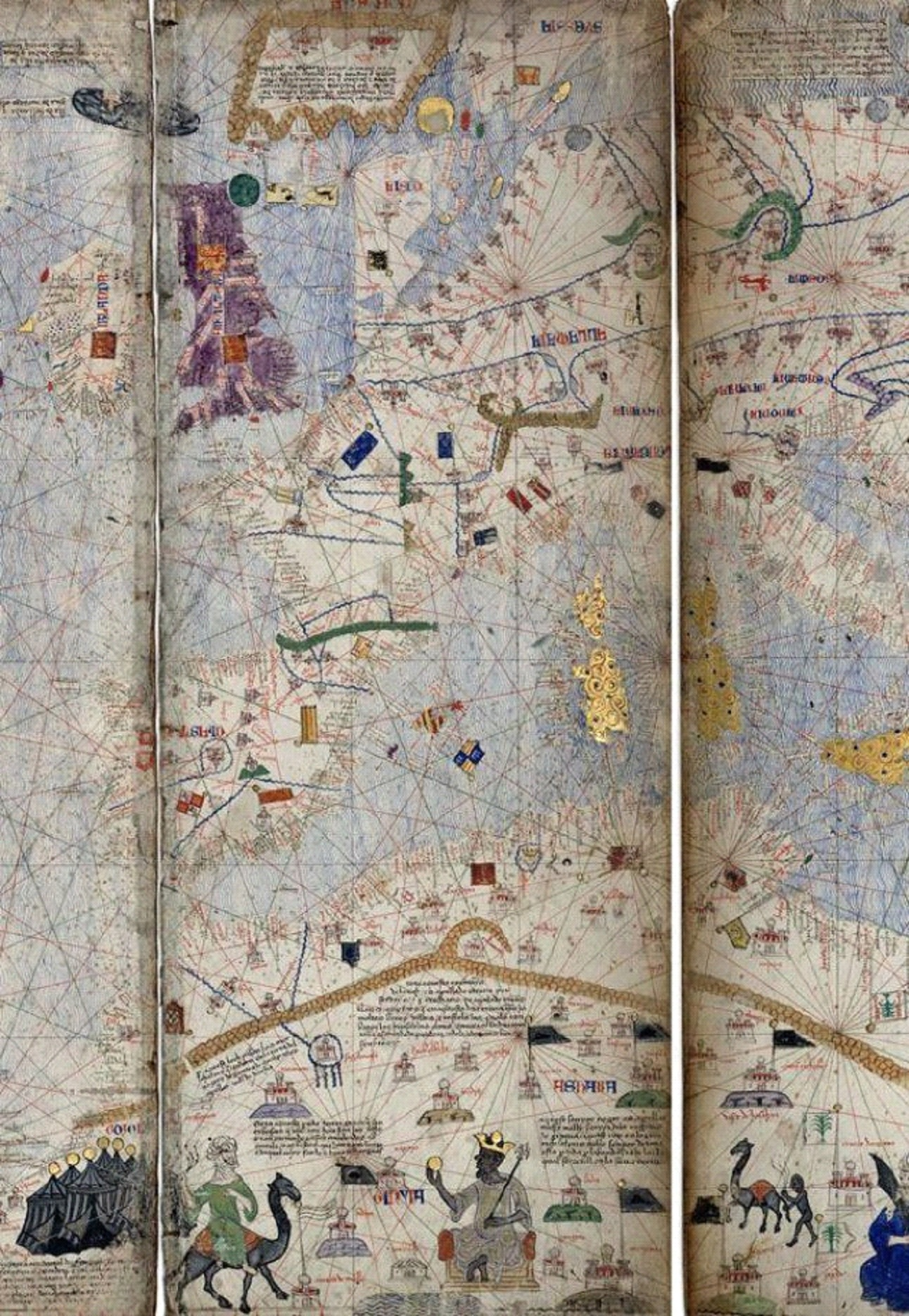 Page of the Catalan atlas by Charles V of France 1338 1380 ca 1375 attributed to Abraham Cresques