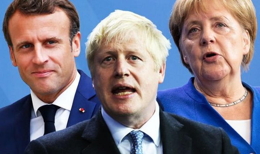blog Boris Johnson Emmanuel Macron Angela Merkel 03.2020