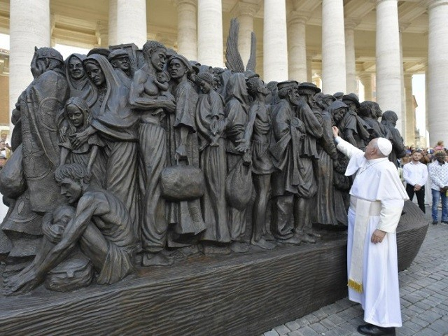 blog Pope inaugurates migrant sculpture