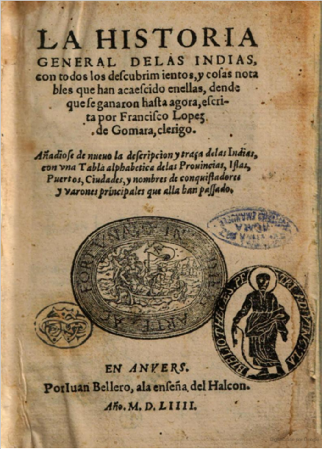 documento Lopez de Gomara 1551