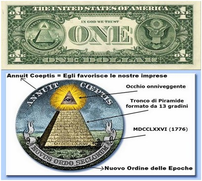 dollaro USA piramide massonica